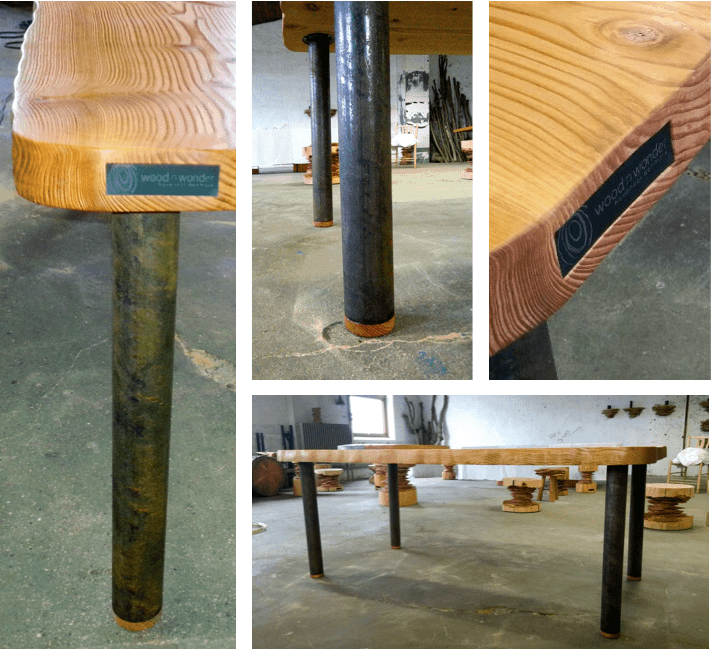 After lots of requests for plank tables with minimalis legs..