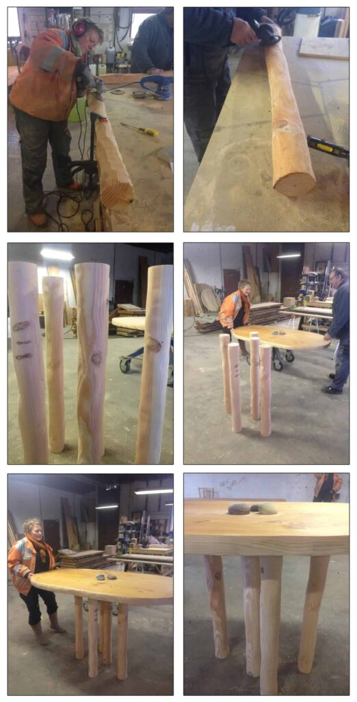 standing table legs