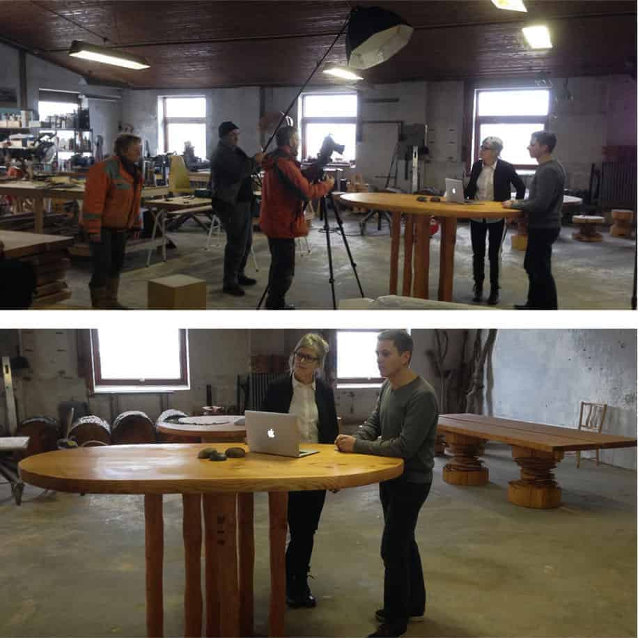 photo shoot for the new stand up meeting table