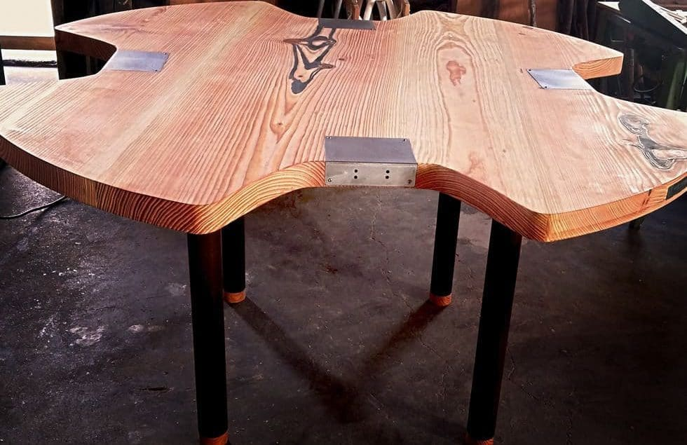 Abejdsbord til guldsmed - før montering af specialværktøj