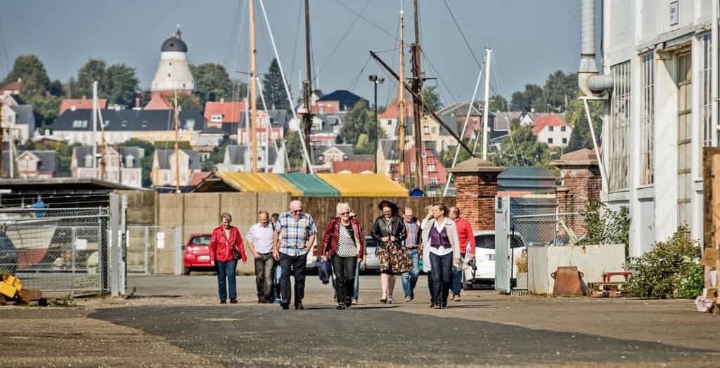 Indgang til det gamle skibsværft på Frederiksø, Svendborg.