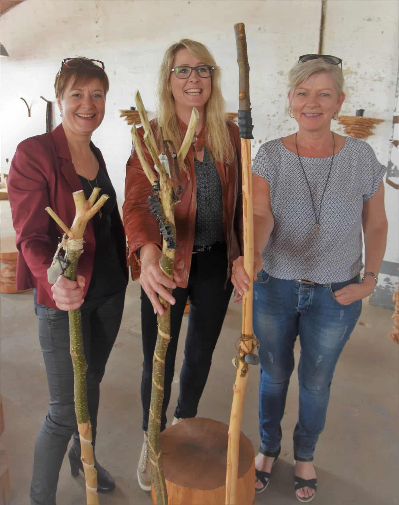 En jysk venindegruppe på 'Snit & Snak' på woodnwonders værksted, juni 2016.