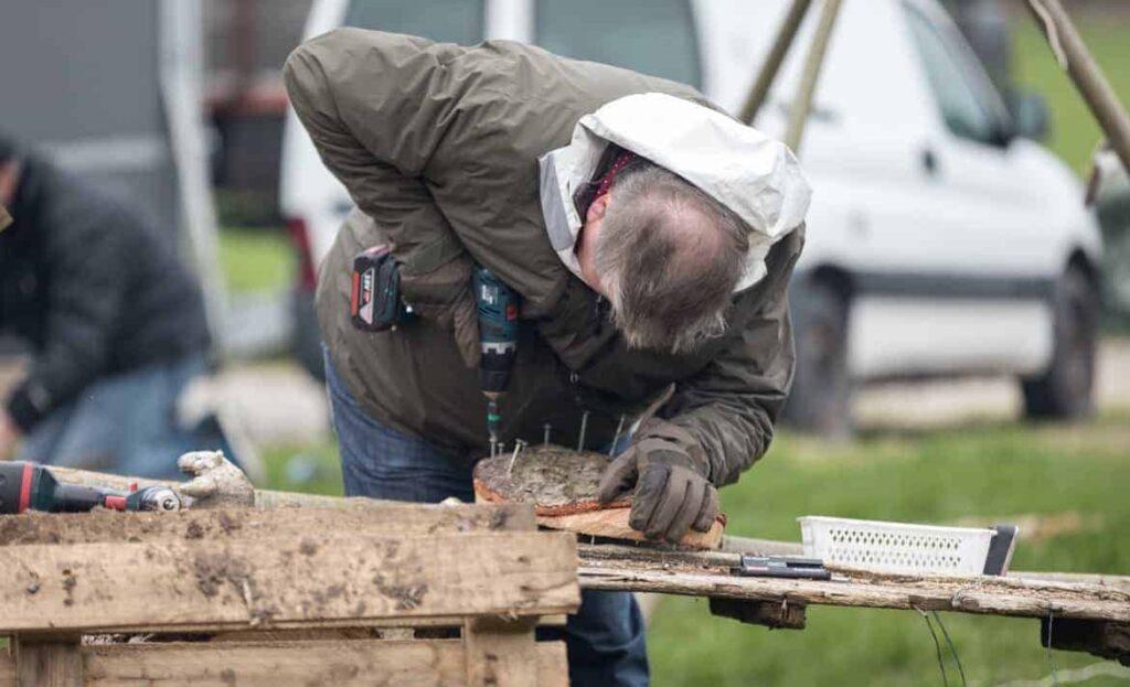 Et mandenetværk på 'Kreativ udendørs teambuilding' i Viborg.